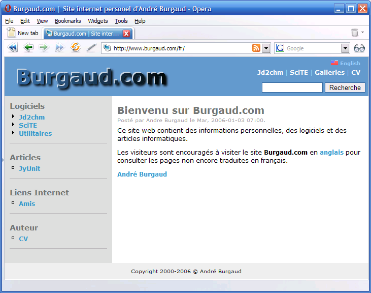 Burgaud.com 1.0 French (Powered by Drupal)