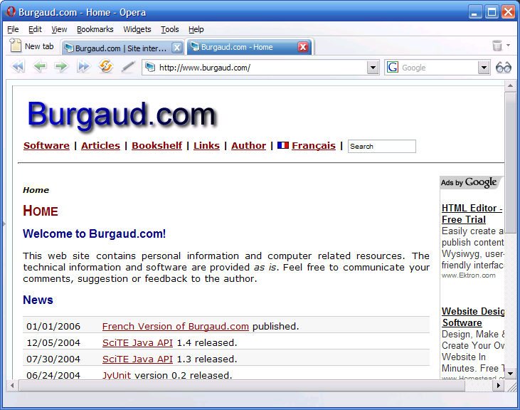 Burgaud.com 5.0 (HTML generated with StaticWiki)